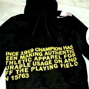 """Behind the label"" champion hoodie"